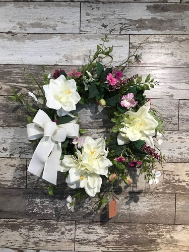 Silk Wreath from Ginger's Flowers &Gifts, local Martinsburg florist