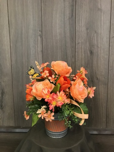 Orange Crush (Silk) from Ginger's Flowers &Gifts, local Martinsburg florist