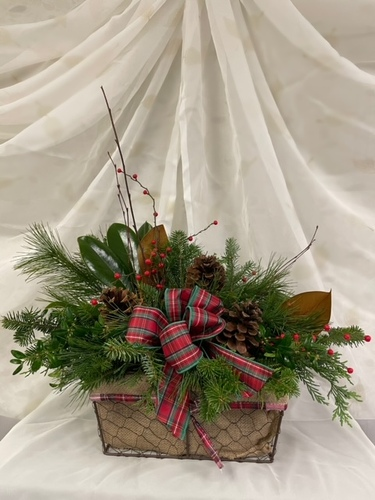 Winter Berry Centerpiece  from Ginger's Flowers &Gifts, local Martinsburg florist