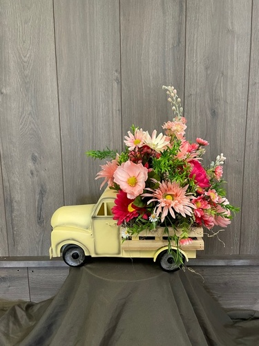Spring Time Truck (Silk) from Ginger's Flowers &Gifts, local Martinsburg florist