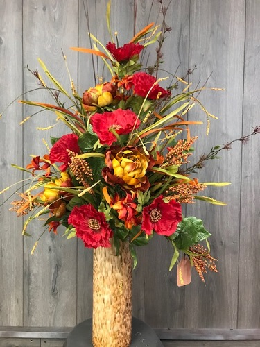 Fall Silk Arrangement  from Ginger's Flowers &Gifts, local Martinsburg florist