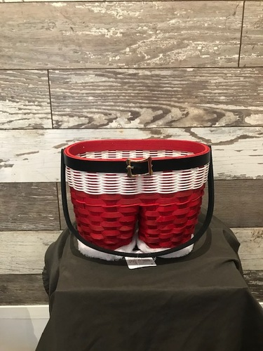 Santa Pants Basket  from Ginger's Flowers &Gifts, local Martinsburg florist