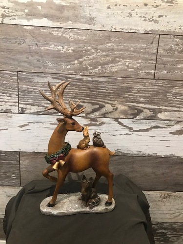 Standing Reindeer  from Ginger's Flowers &Gifts, local Martinsburg florist