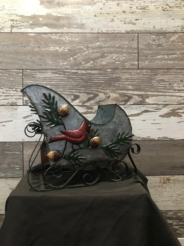 Galvanized Sleigh from Ginger's Flowers &Gifts, local Martinsburg florist