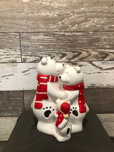 LED Polar Bears from Ginger's Flowers &Gifts, local Martinsburg florist