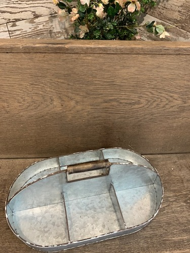 Divided Galvanized Tray from Ginger's Flowers &Gifts, local Martinsburg florist