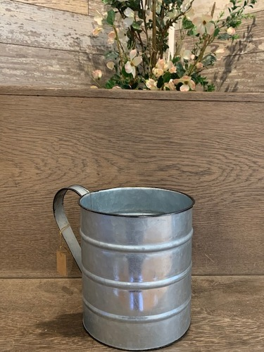Galvanized Large Cup from Ginger's Flowers &Gifts, local Martinsburg florist