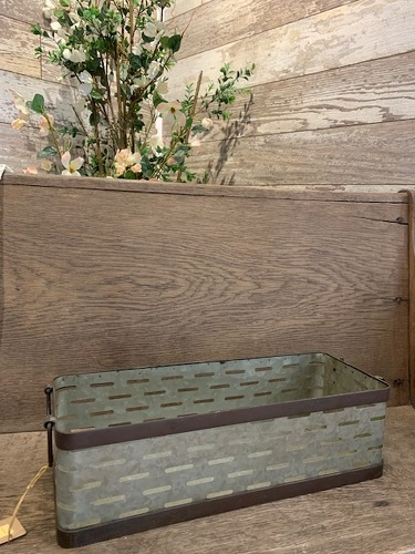 Galvanized Basket from Ginger's Flowers &Gifts, local Martinsburg florist
