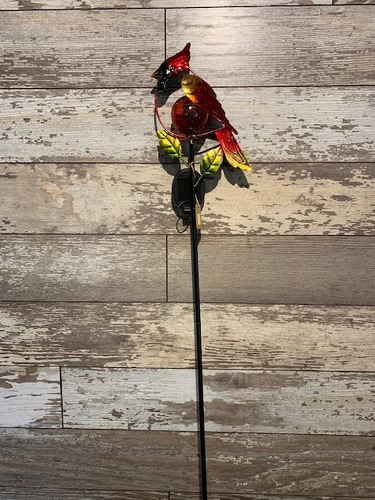 Solar Cardinal Yard Stake from Ginger's Flowers &Gifts, local Martinsburg florist