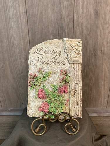 Memorial Plaque W/ Easel from Ginger's Flowers &Gifts, local Martinsburg florist