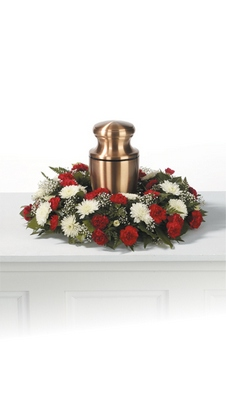 Memorial Urn Wreath  from Ginger's Flowers &Gifts, local Martinsburg florist