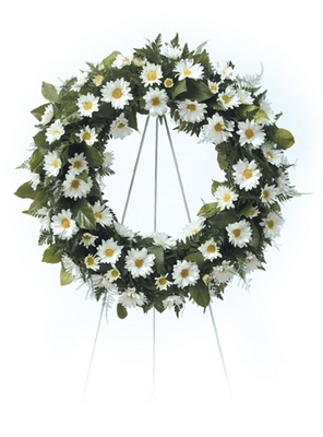 Daisy Wreath from Ginger's Flowers &Gifts, local Martinsburg florist