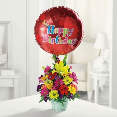 Happy Birthday Basket from Ginger's Flowers &Gifts, local Martinsburg florist