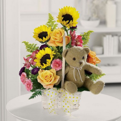 Teddy Bear Garden from Ginger's Flowers &Gifts, local Martinsburg florist